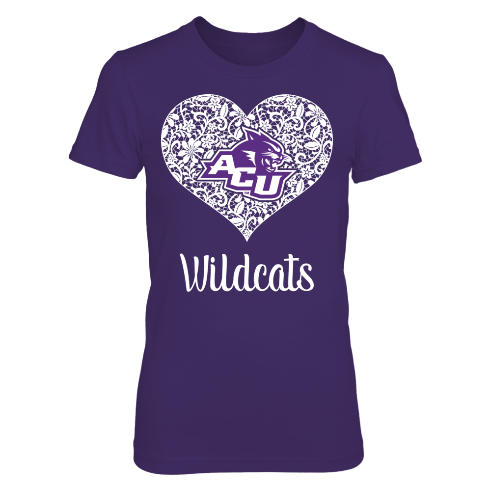 Laced Heart - Abilene Christian Wildcats Front picture