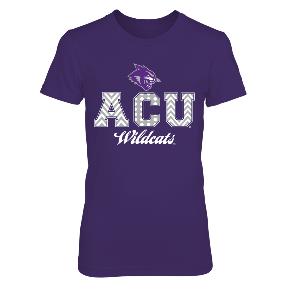 Patterned Letters - Abilene Christian Wildcats Front picture