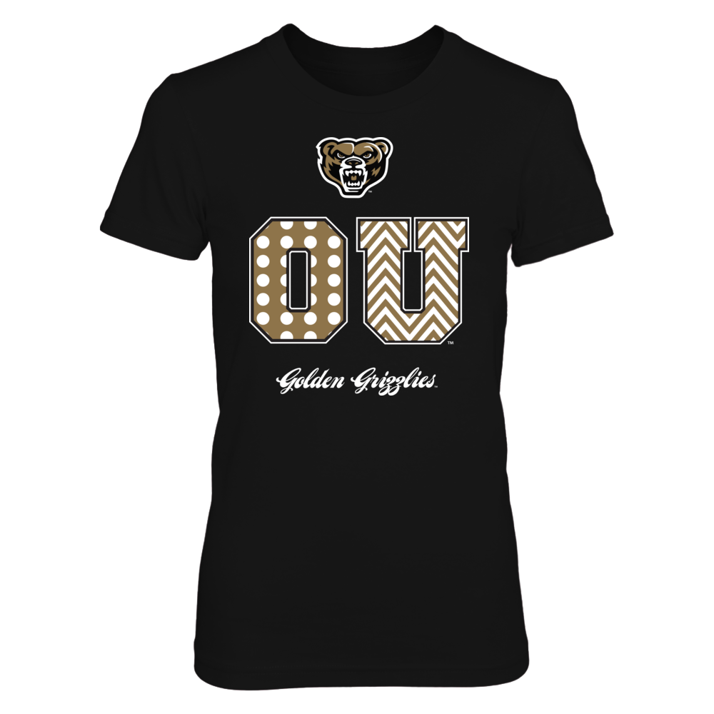 Patterned Letters - Oakland Golden Grizzlies Front picture