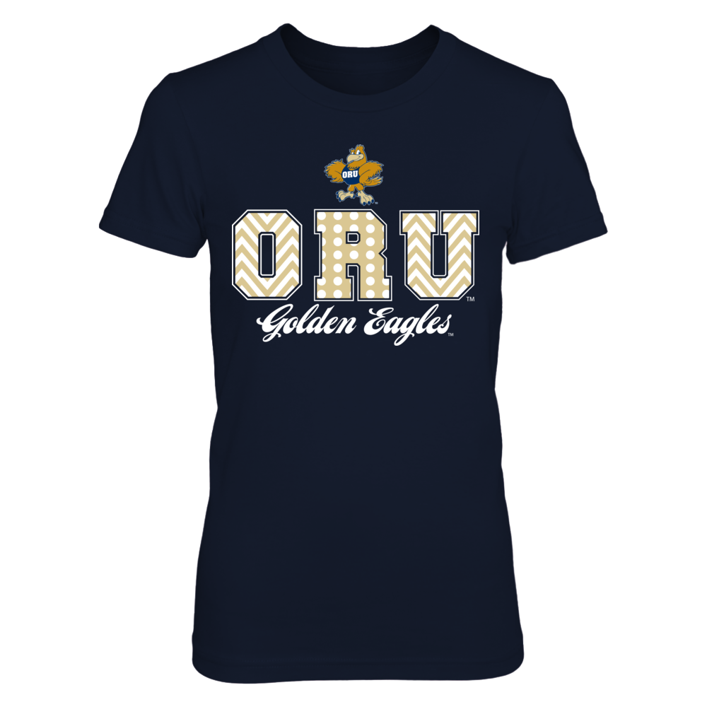 Patterned Letters - Oral Roberts Golden Eagles Front picture