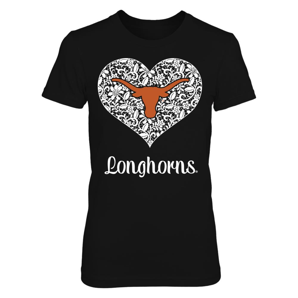 Texas Longhorns - Lace Heart Logo Front picture