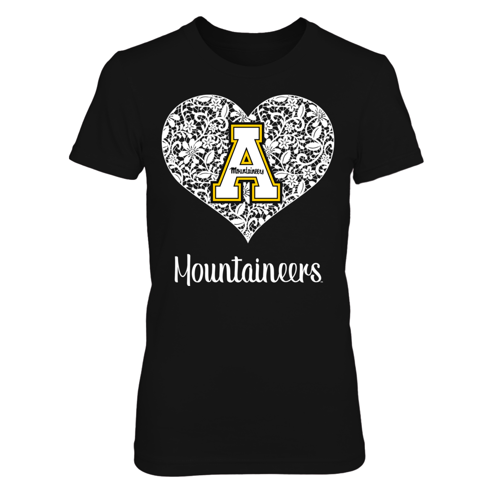 Appalachian State Mountaineers - Lace Heart Front picture