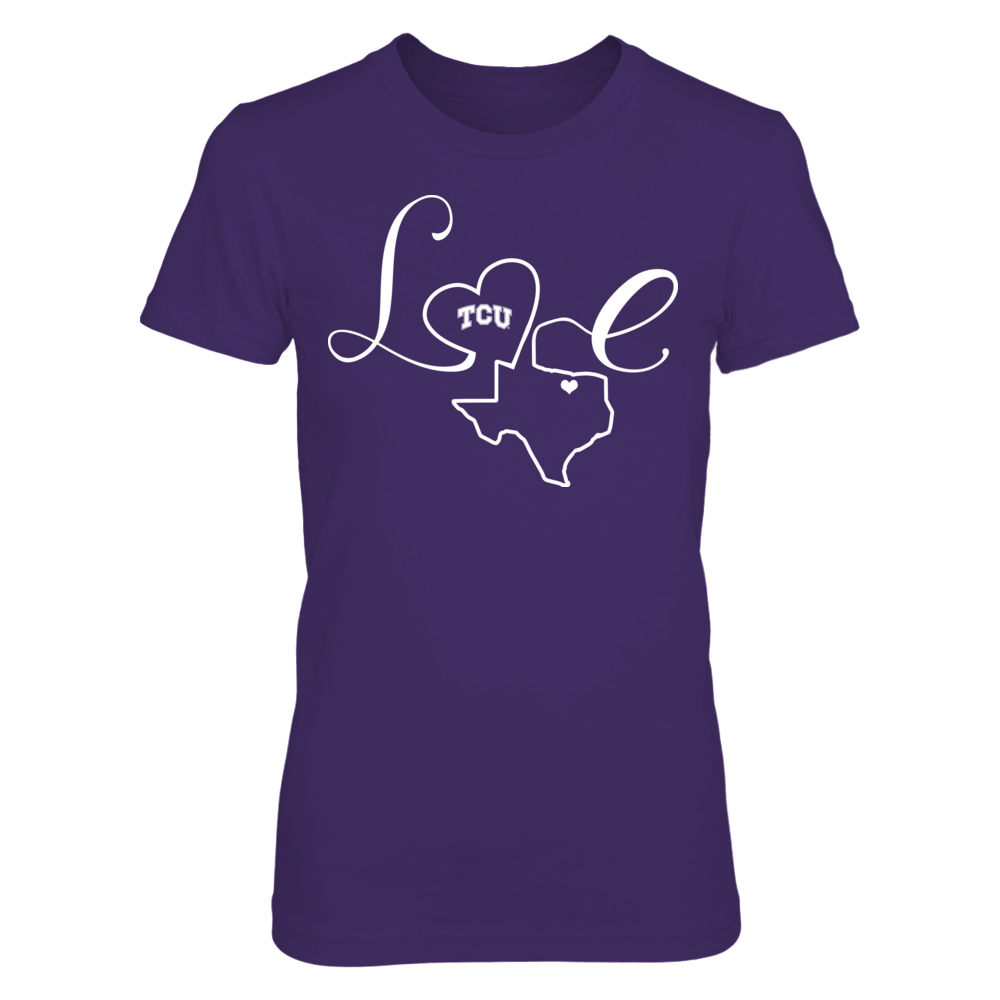 TCU Horned Frogs - Love State Outline Front picture