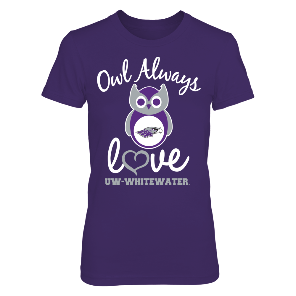 Wisconsin-Whitewater Warhawks - Owl Always Love Front picture