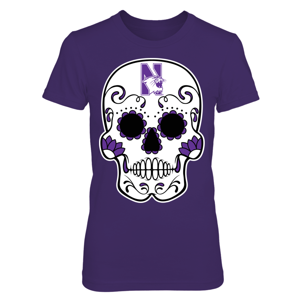 Northwestern Wildcats - Sugar Skull Front picture