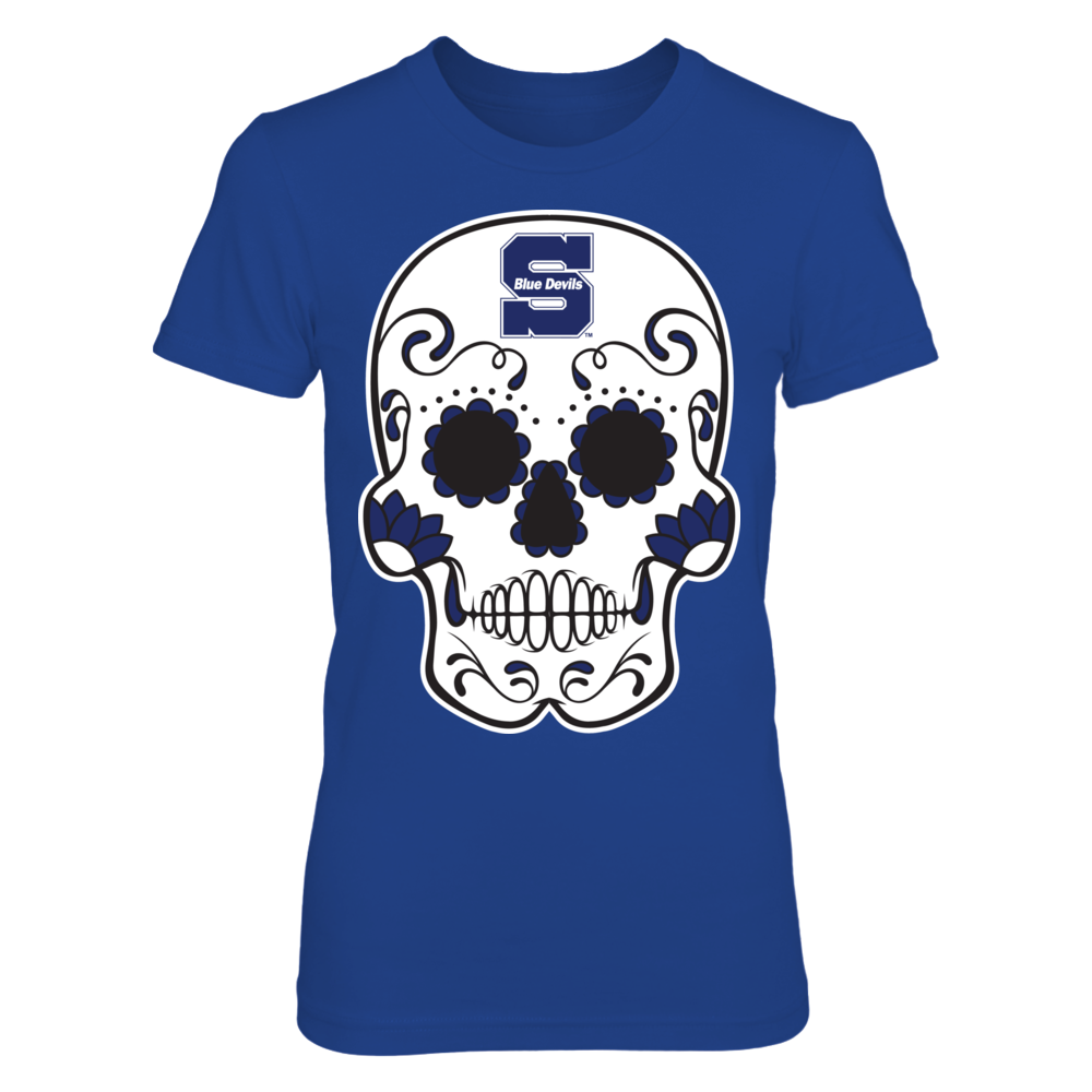 Wisconsin Stout Blue Devils - Sugar Skull Front picture
