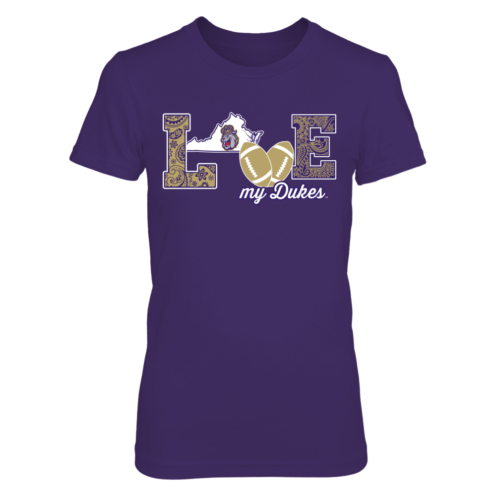 James Madison Dukes - Love My Team - Football - Original  - IF-IC13-DS64 Front picture
