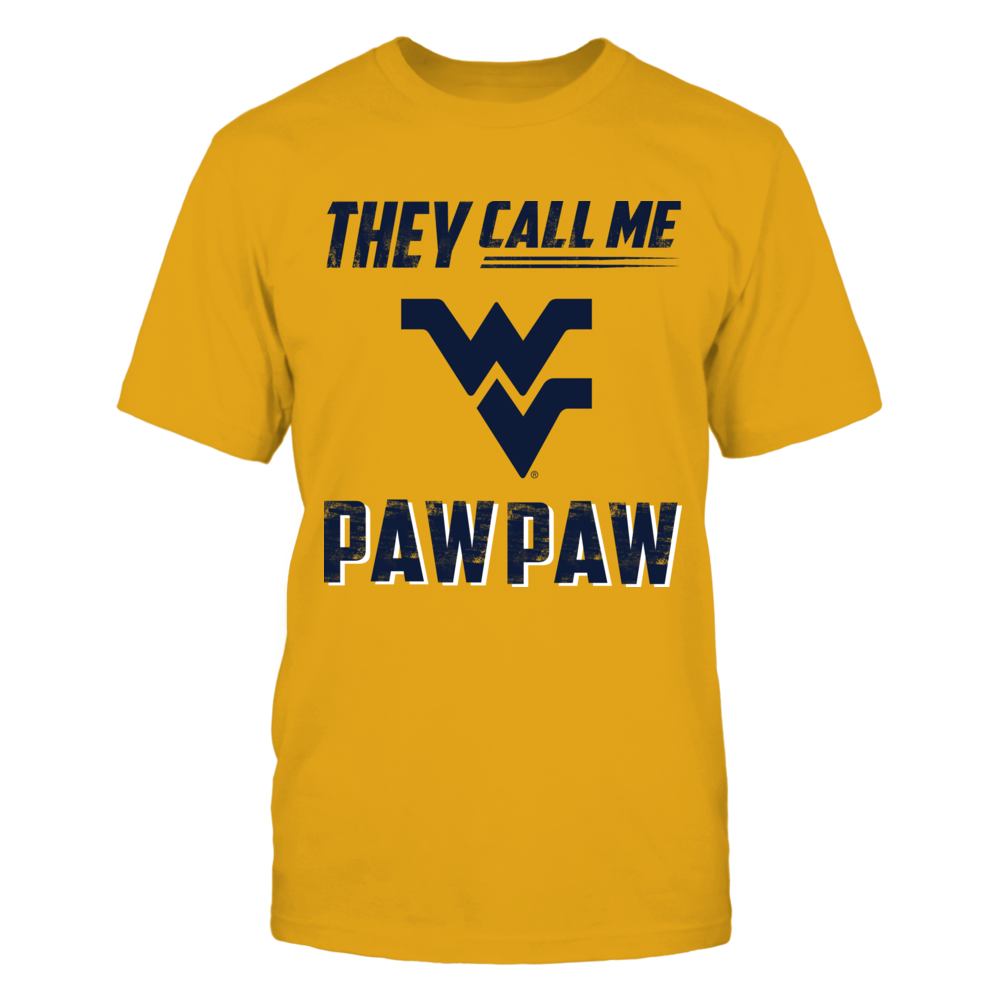 West Virginia Mountaineers - They Call Me Paw Paw - Gold shirt Front picture