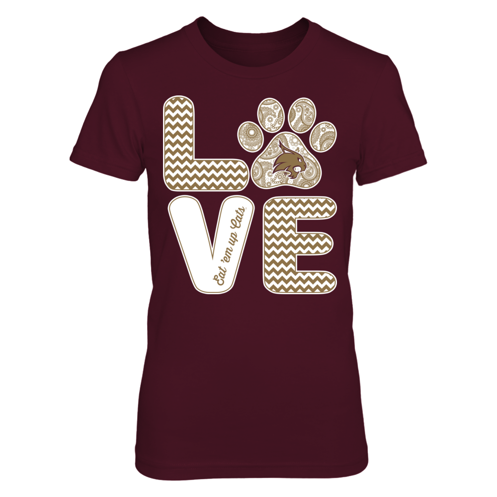 Texas State Bobcats - Love - Paw Front picture