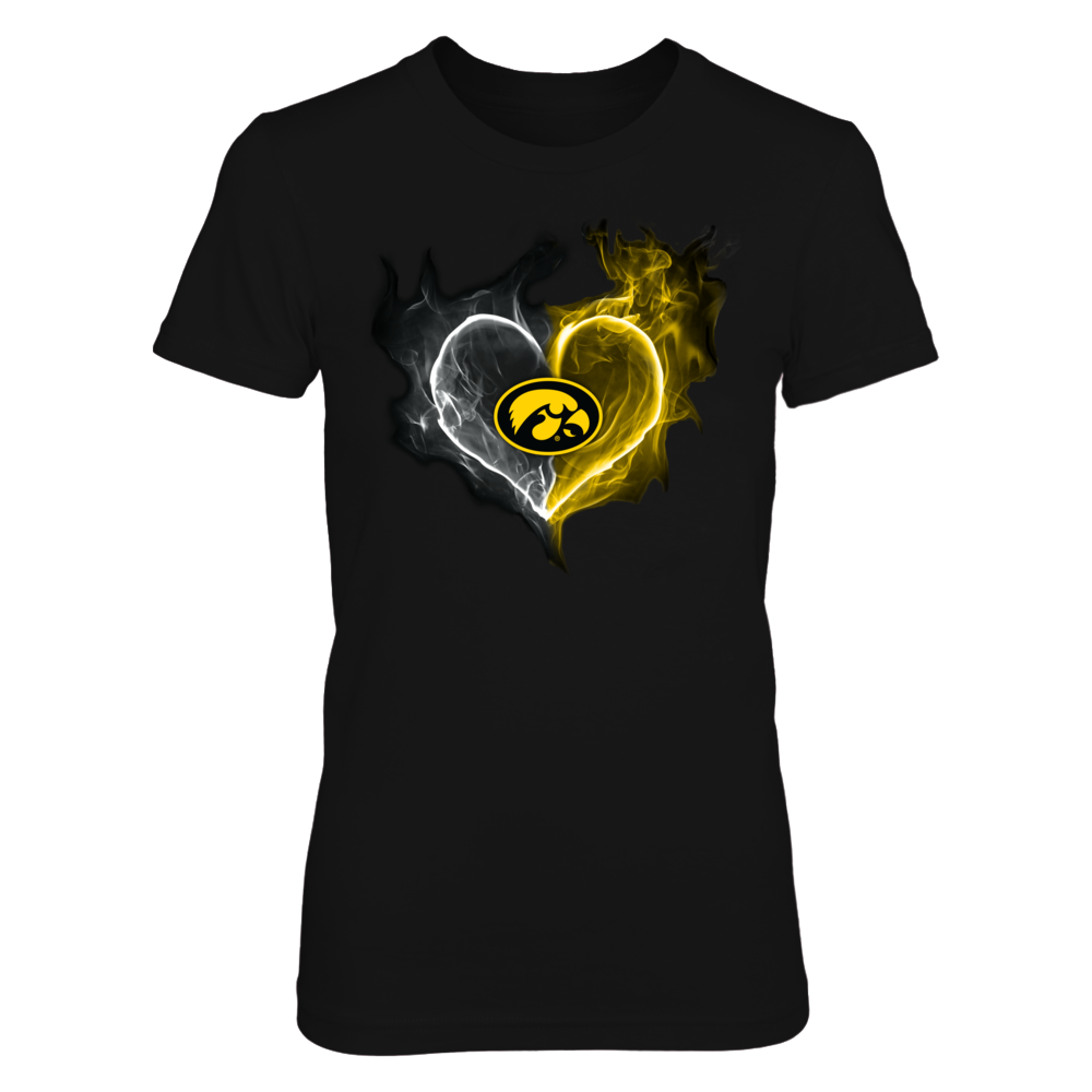 Iowa Hawkeyes - Fire Smoke Heart Front picture