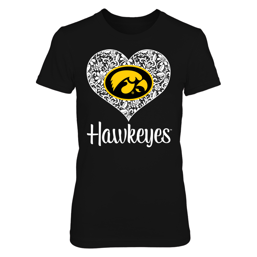 Lace Heart Logo - Iowa Hawkeyes Front picture
