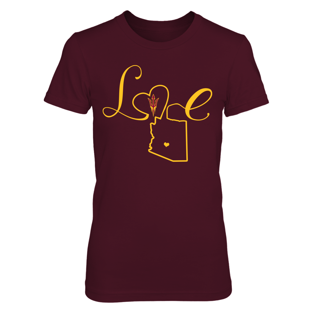 Arizona State Sun Devils - Love State Outline Front picture
