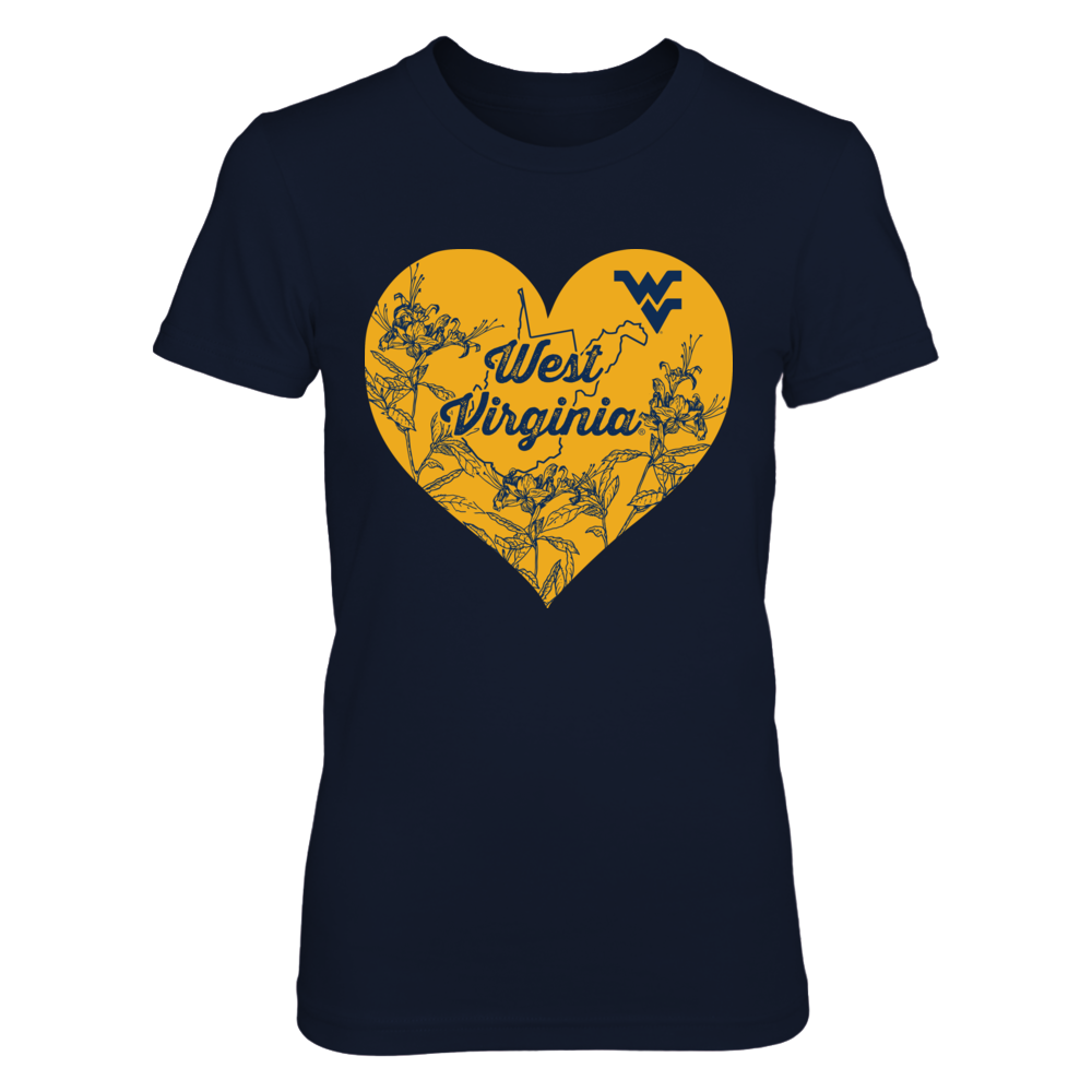 West Virginia Mountaineers - Heart Flower Front picture