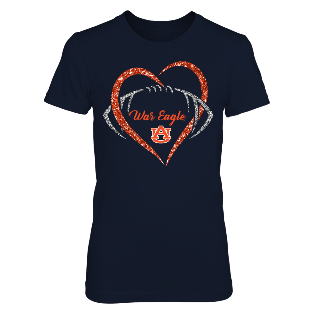 Auburn Tigers - Heart Football Front picture