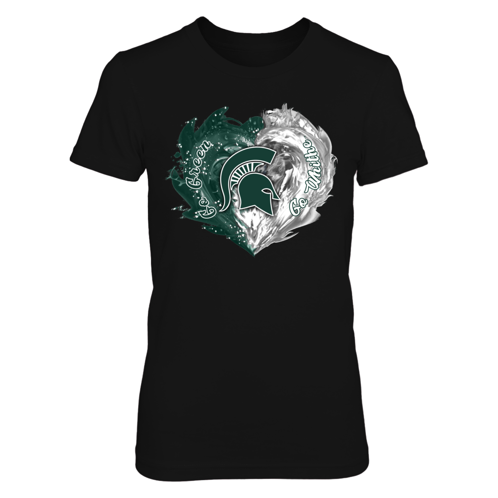 Michigan State Spartans - Fire & Water Heart Front picture