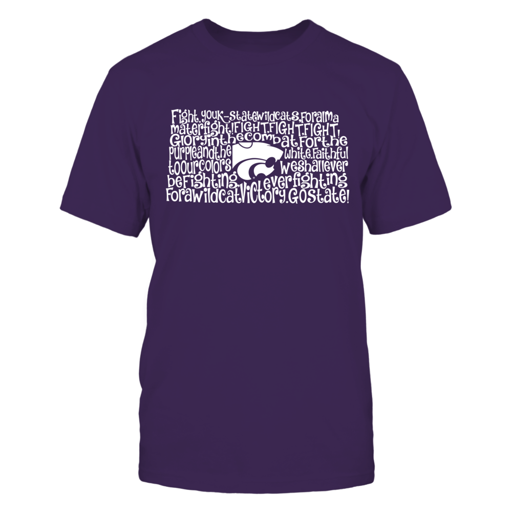 Kansas State Wildcats - Fight Song Inside State Map Front picture