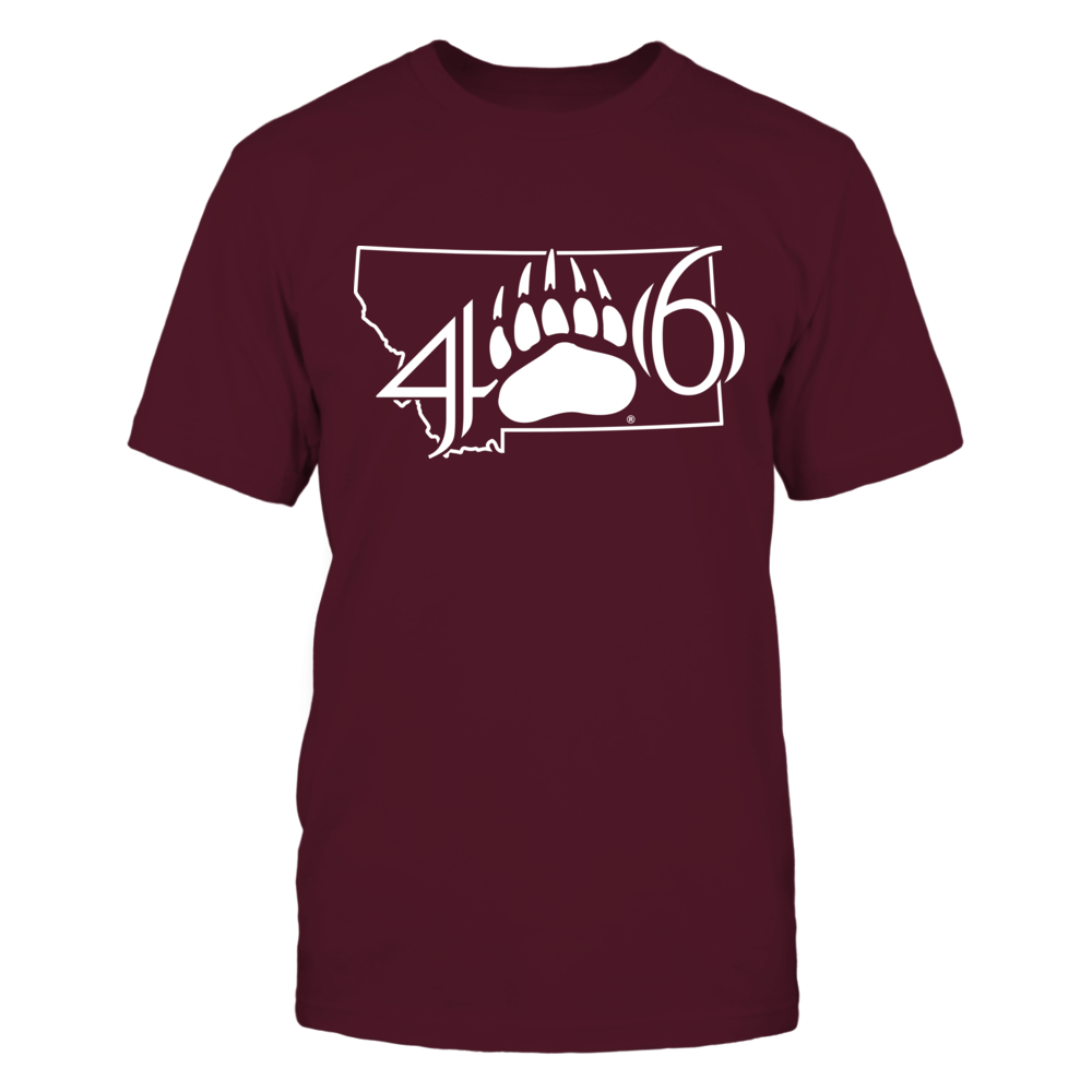 Montana Grizzlies - State Outline - Logo Area Code Front picture