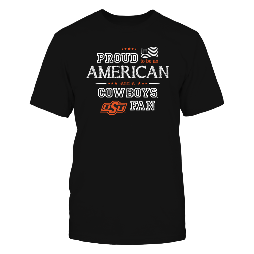 Proud American Oklahoma State Cowboys Fan Shirt Front picture