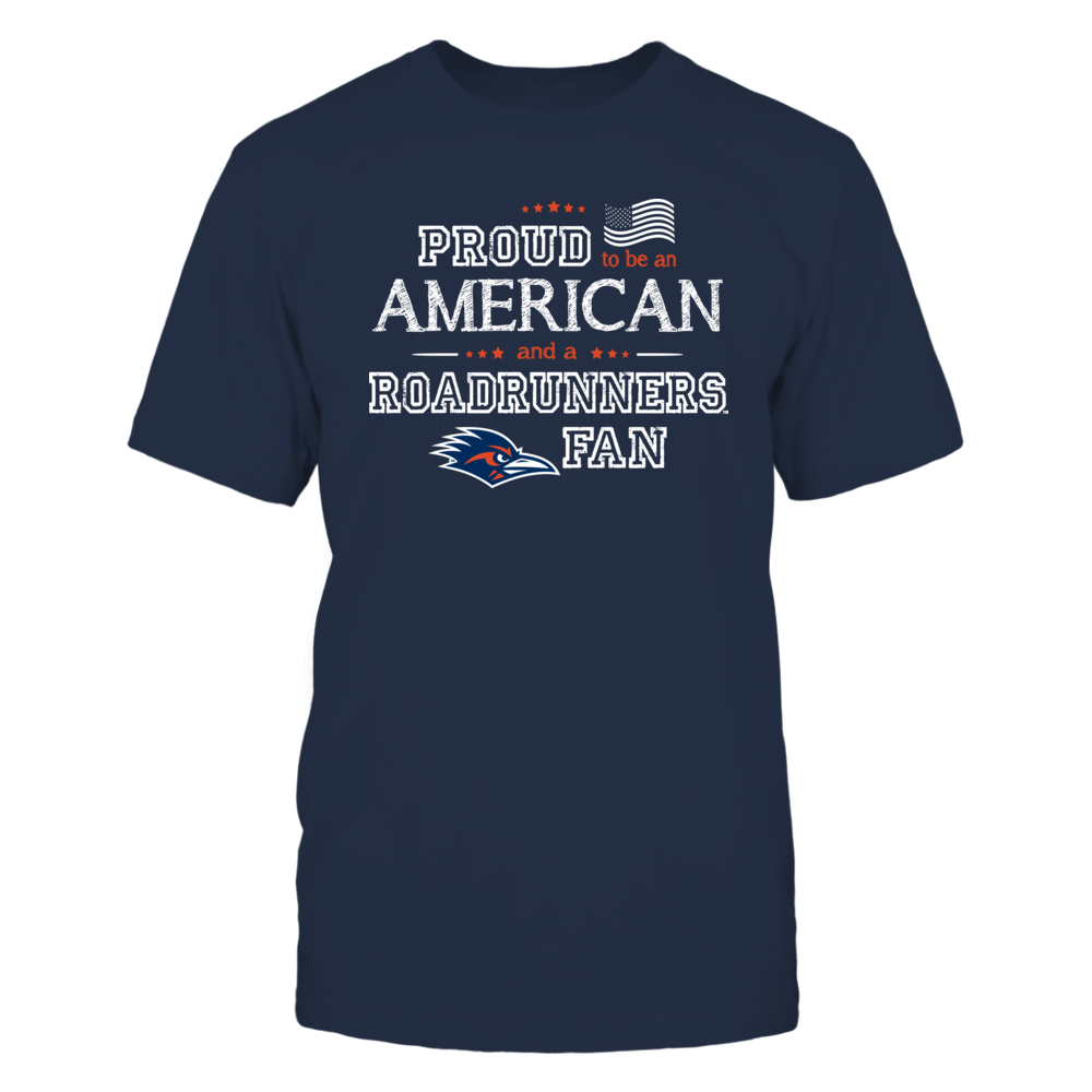 Proud American UTSA Roadrunners Fan Shirt Front picture