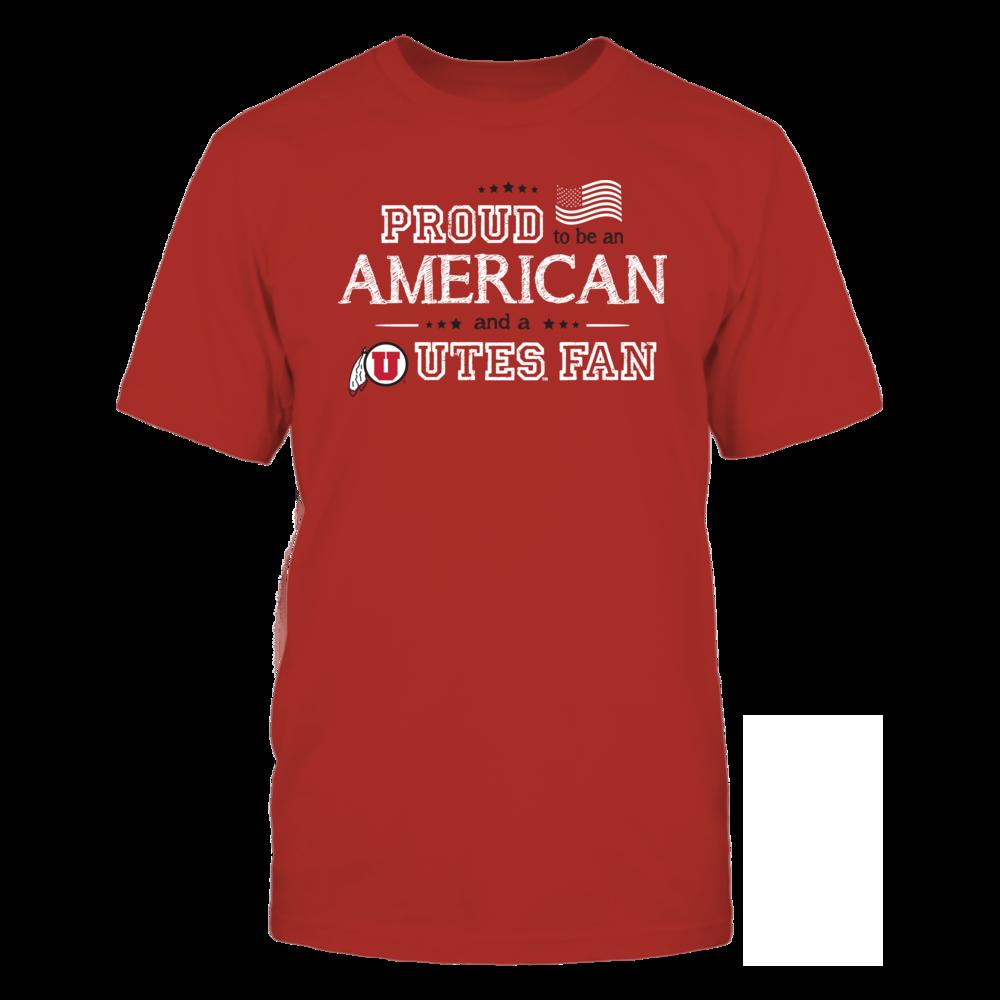 Proud American Utah Utes Fan Shirt Front picture