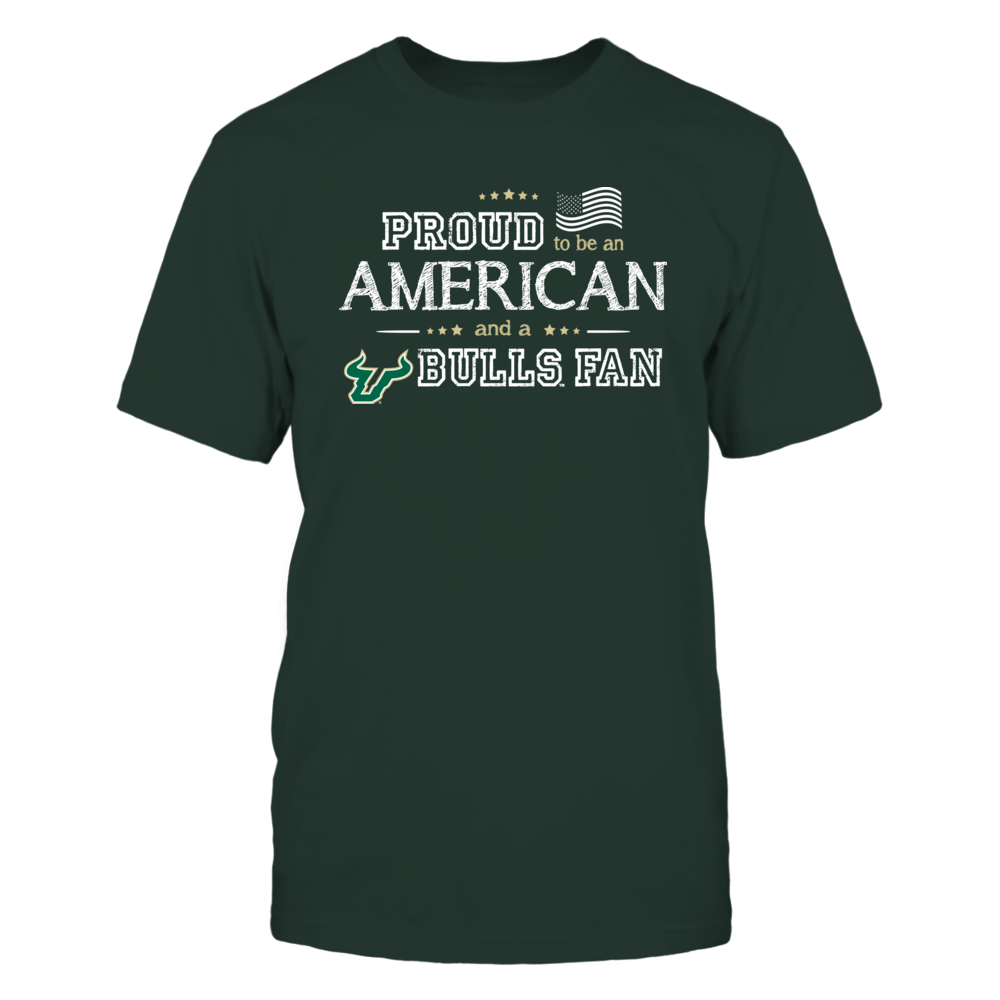 Proud American South Florida Bulls Fan Shirt Front picture