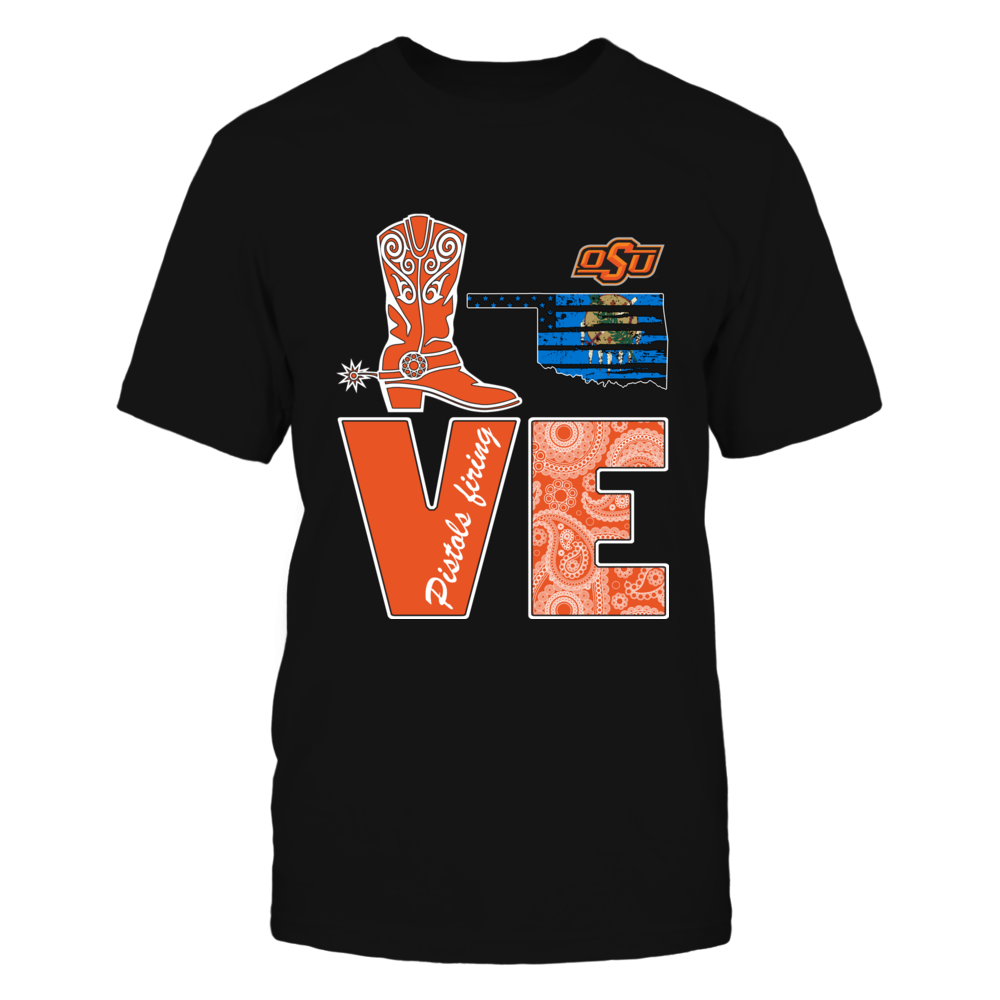 Oklahoma State Cowboys -  Love Boot Flag Front picture