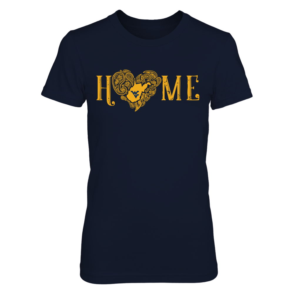 West Virginia Mountaineers - HOME Paisley Heart Front picture