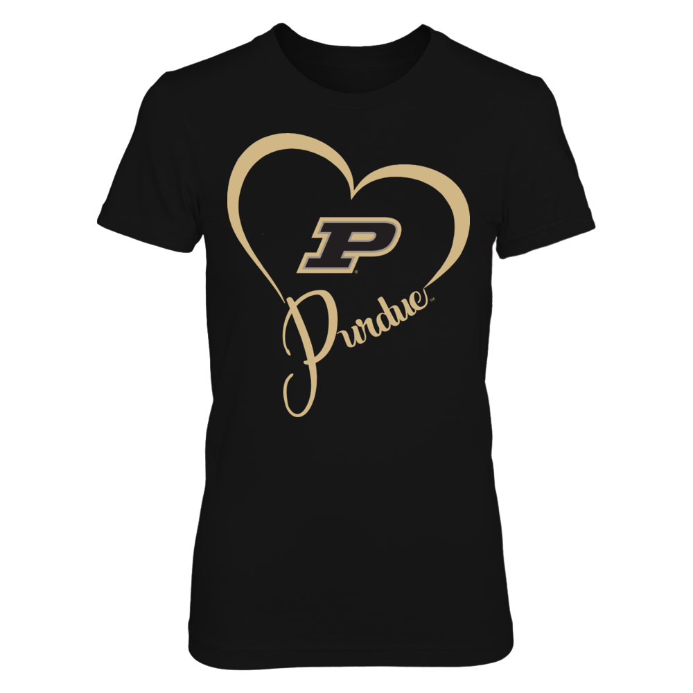 Purdue Boilermakers - Team Name Heart Outline Front picture