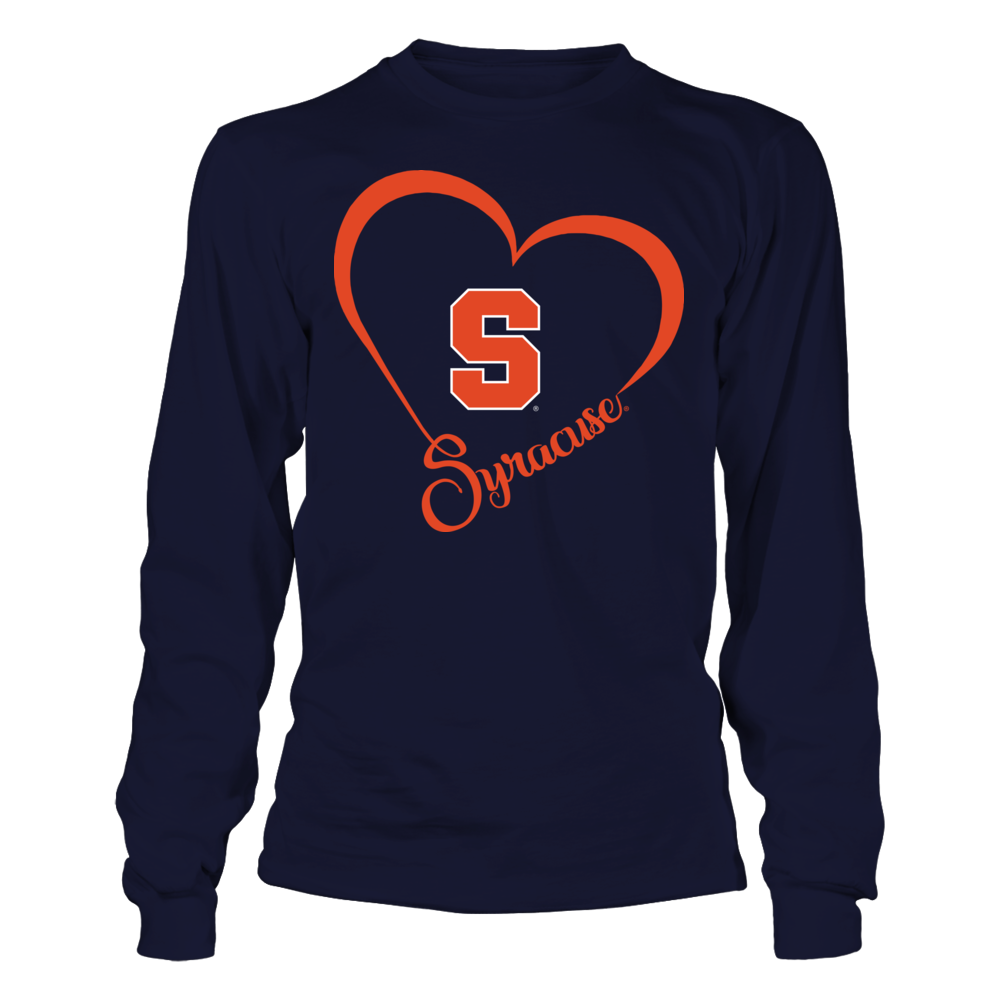 Syracuse Orange - Team Name Heart Outline Front picture
