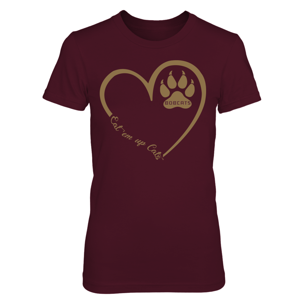 Texas State Bobcats - Heart 3/4 - Pawprint Front picture