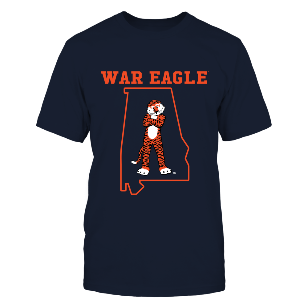 Auburn Tigers - Slogan - Mascot State Outline Front picture