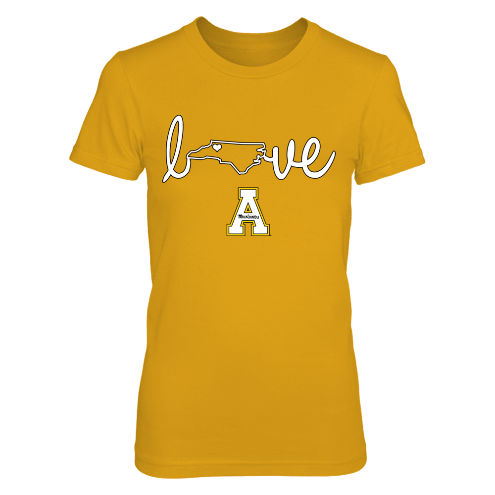 Appalachian State Mountaineers - State Love - Gold shirt - IF-IC13-DS27 Front picture