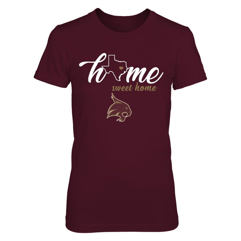 Texas State Bobcats - Home sweet home - State Outline Front picture