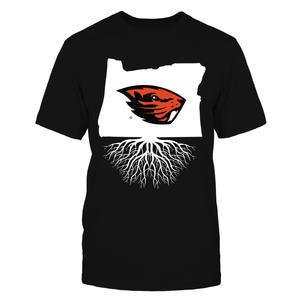 Oregon State Beavers - State map roots Front picture