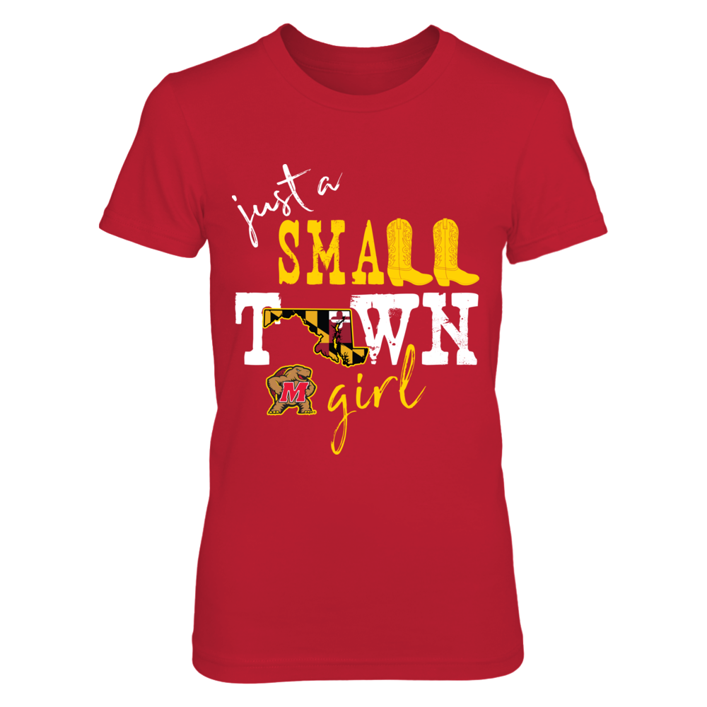 Maryland Terrapins - Small town girl - State flag Front picture