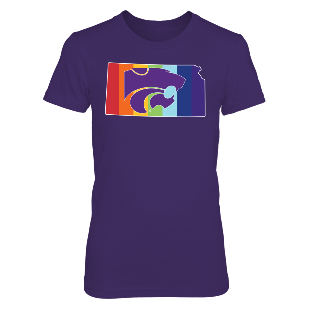 Pride Month Logo - Kansas State Wildcats Front picture