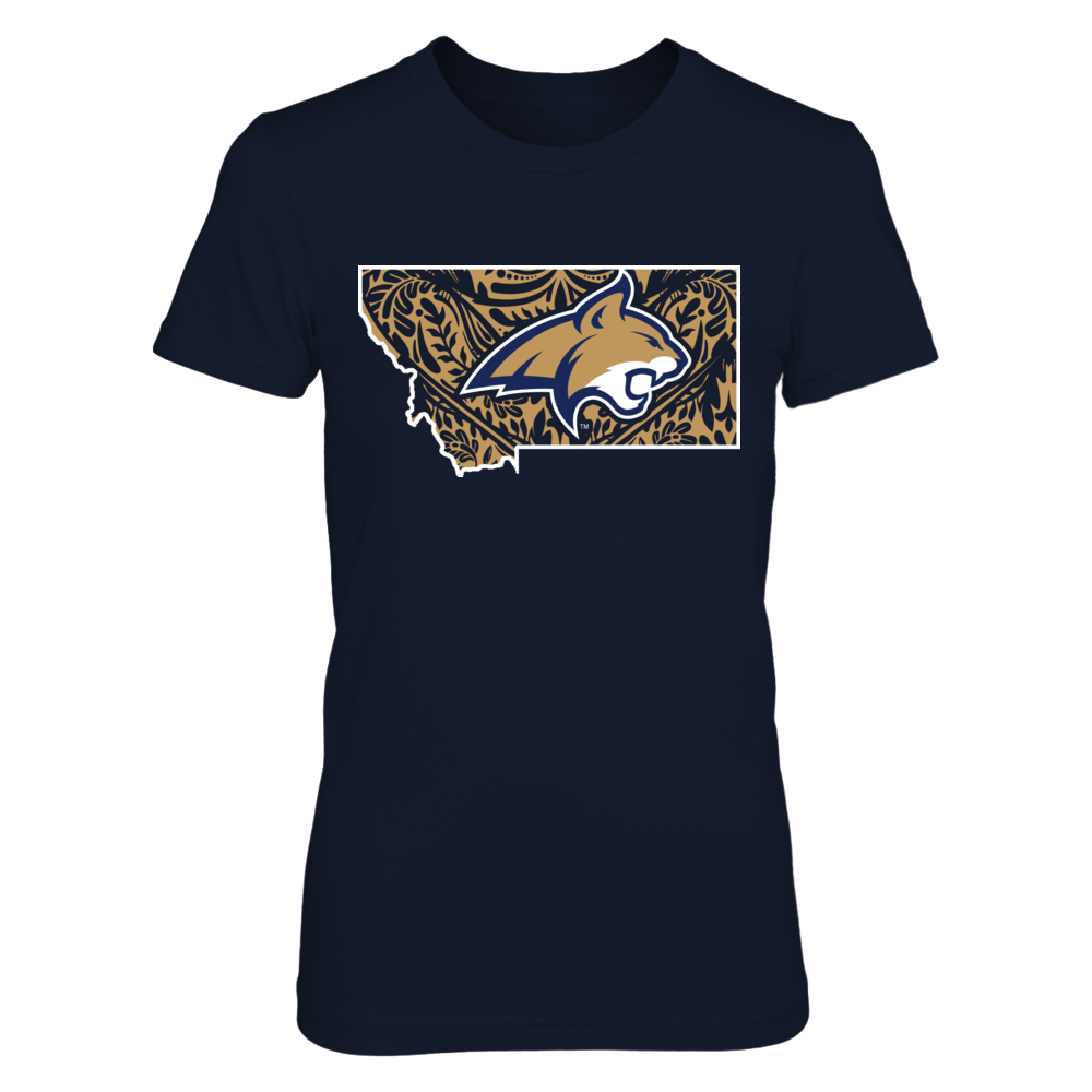 Montana State Bobcats - Logo state lace pattern Front picture