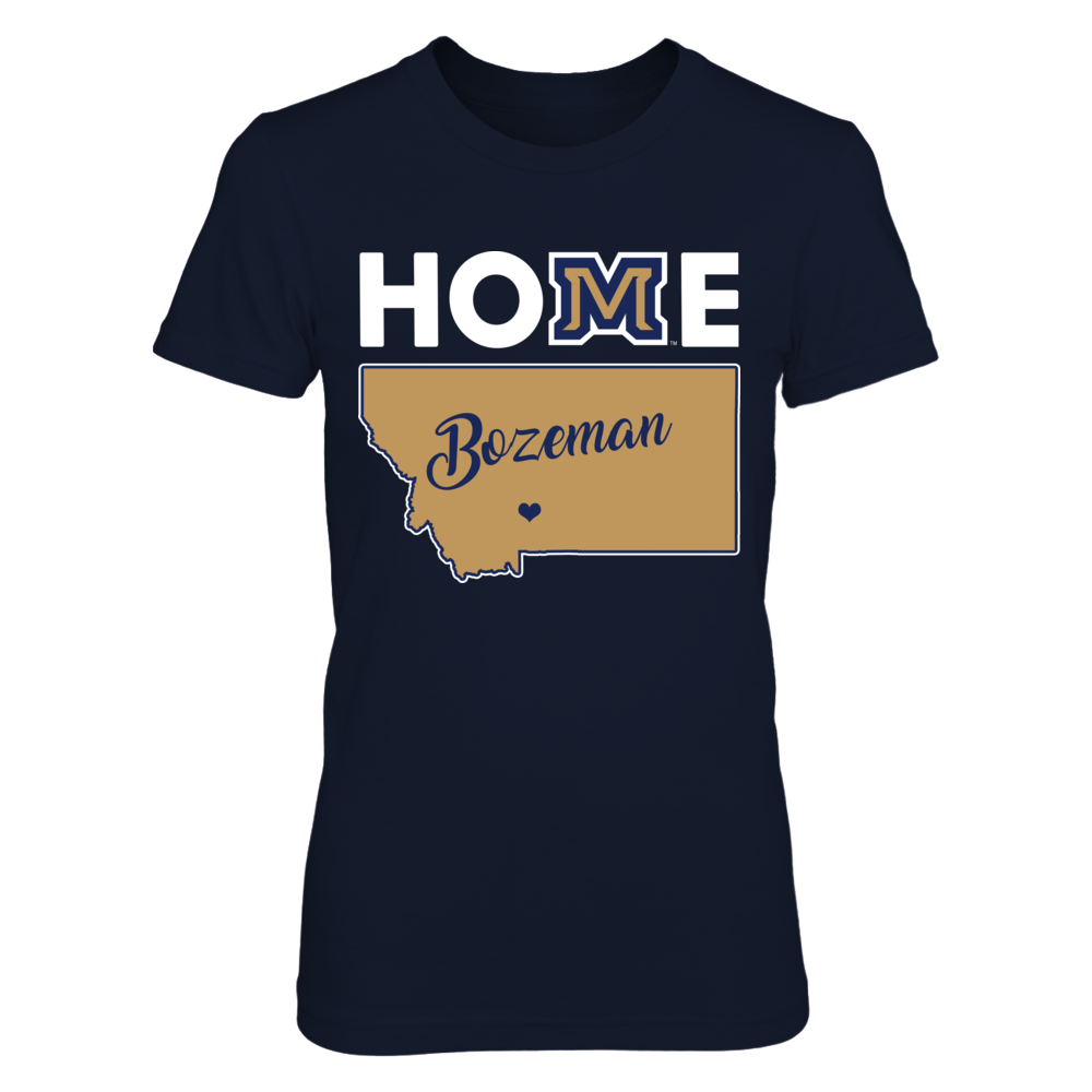 Montana State Bobcats - Home logo state map Front picture