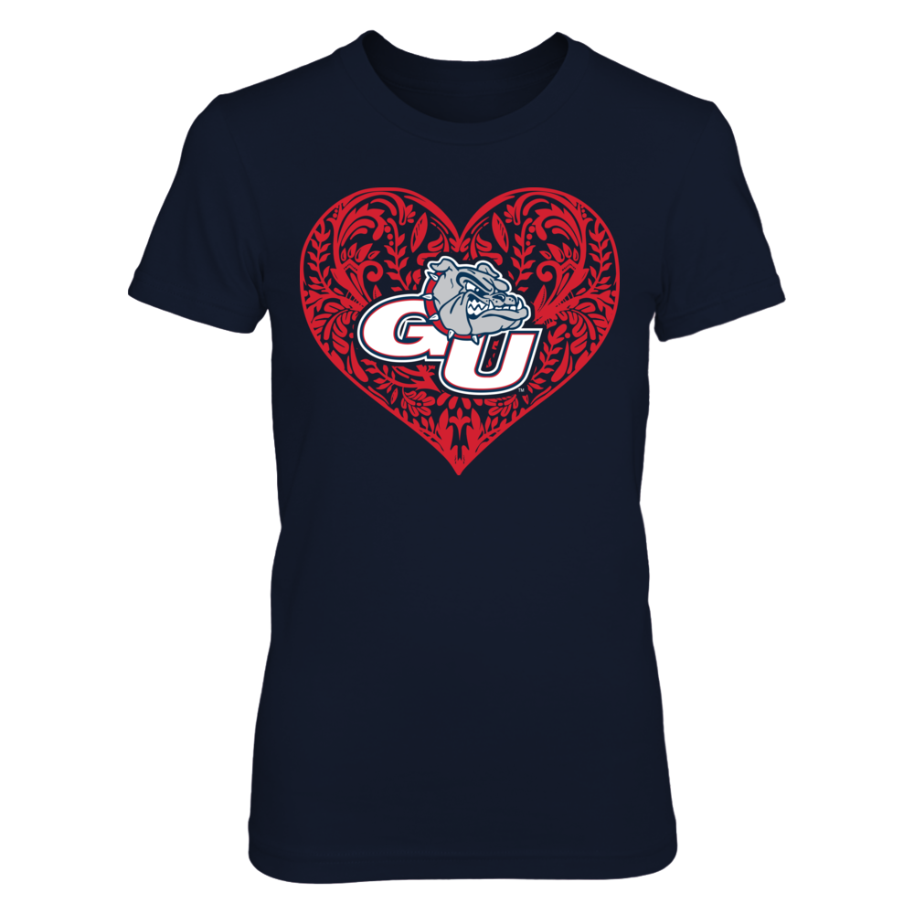 Gonzaga Bulldogs - Pattern Heart - Original Front picture
