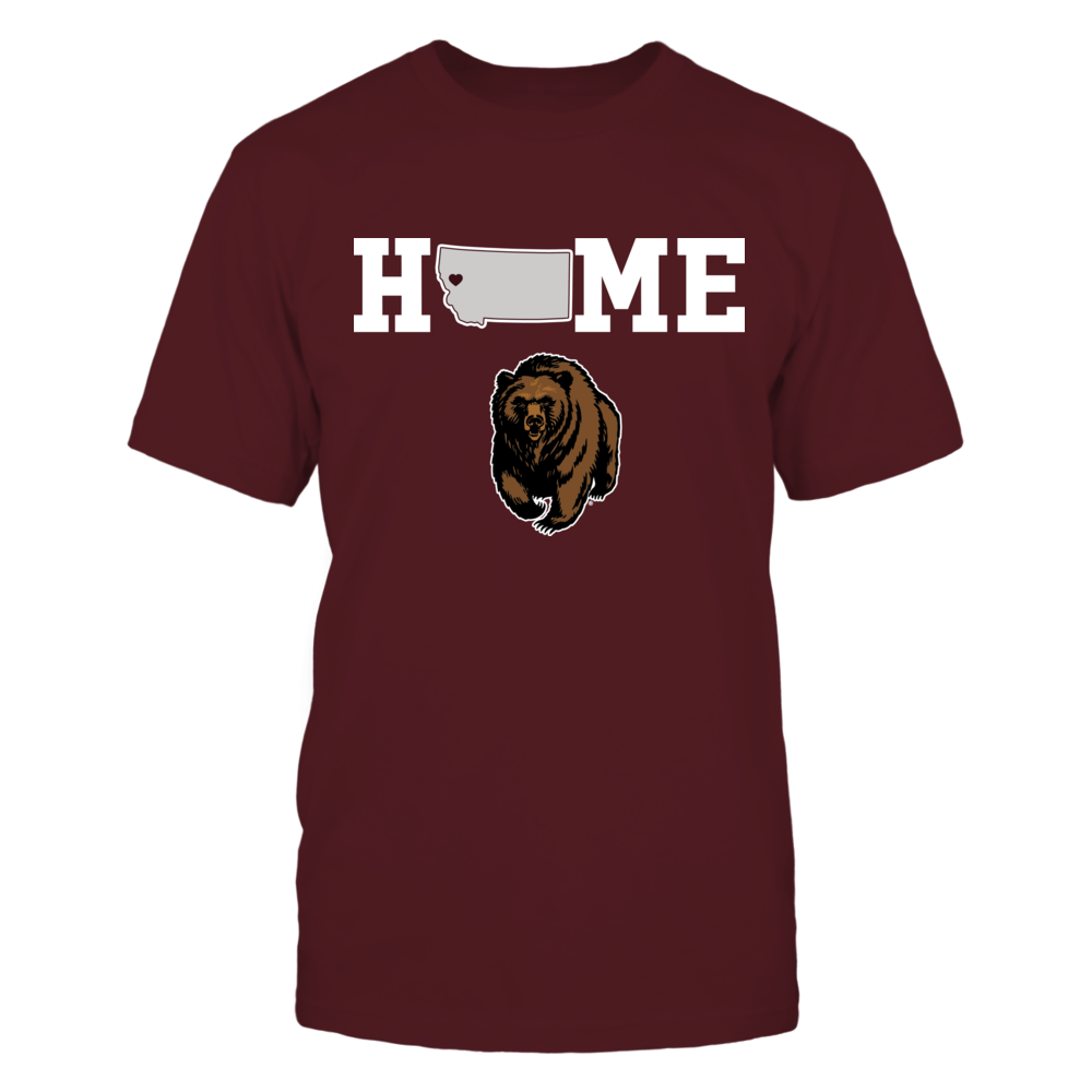 Montana Grizzlies - Home state map Front picture