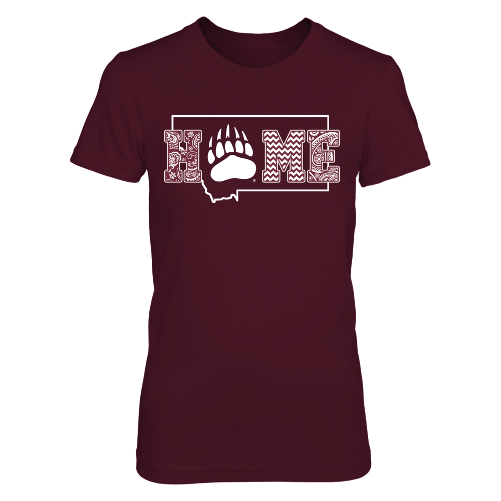 Montana Grizzlies - Pattern home with state outline Front picture