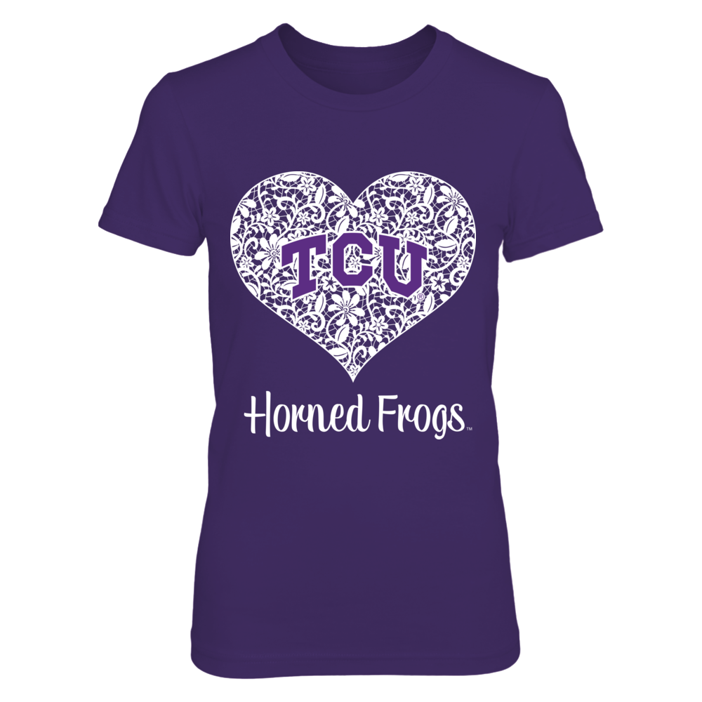 TCU Horned Frogs - Lace Heart Logo Front picture