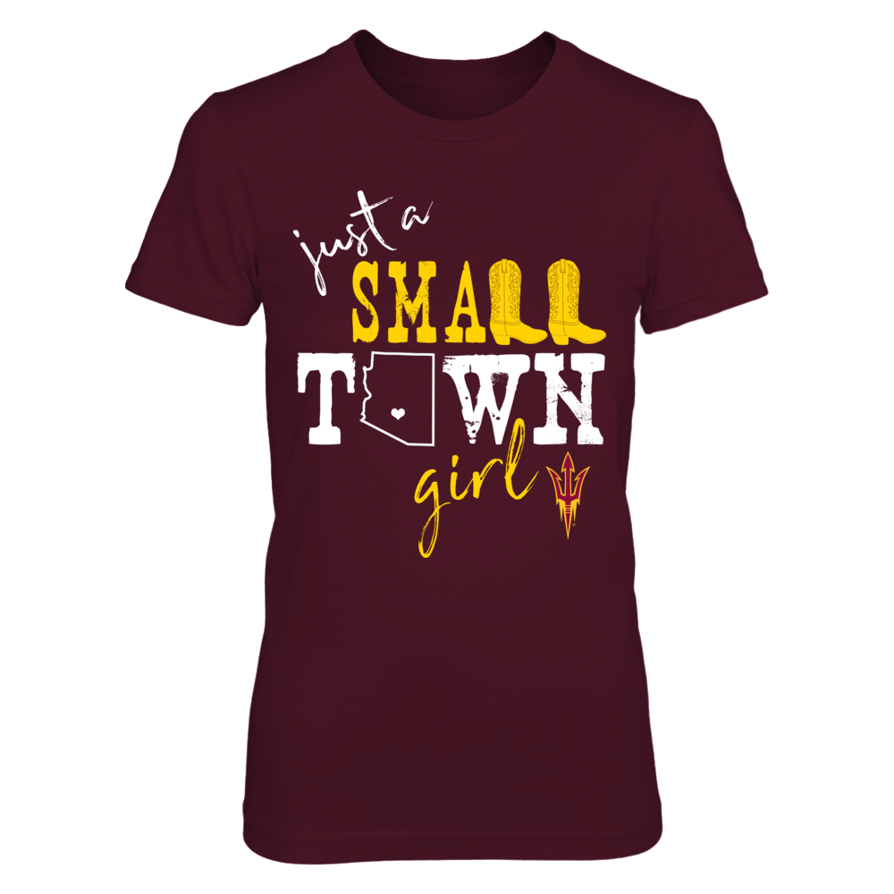 Arizona State Sun Devils - Small Town Girl - State Outline Front picture