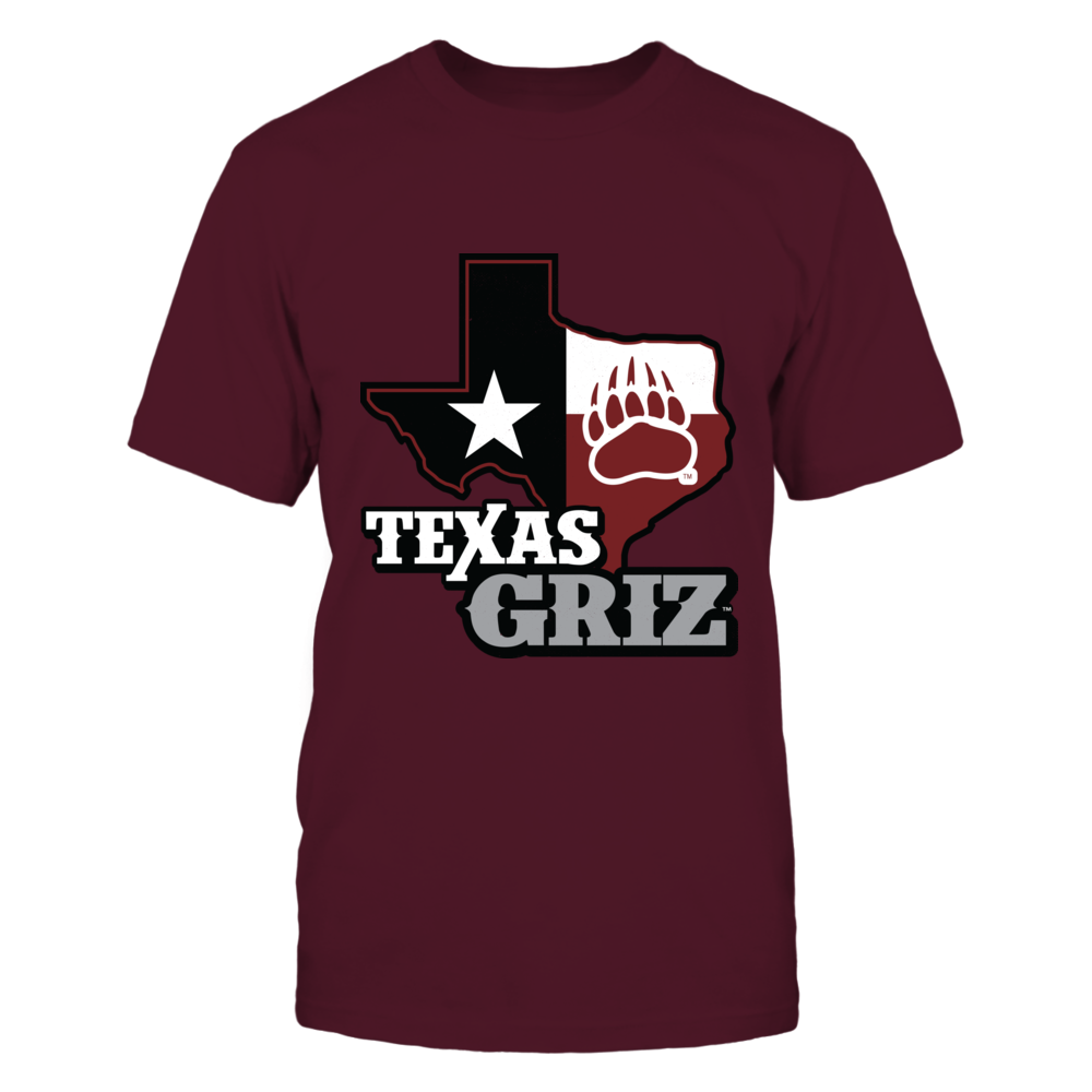 Montana Grizzlies - Texas Map Mascot Front picture