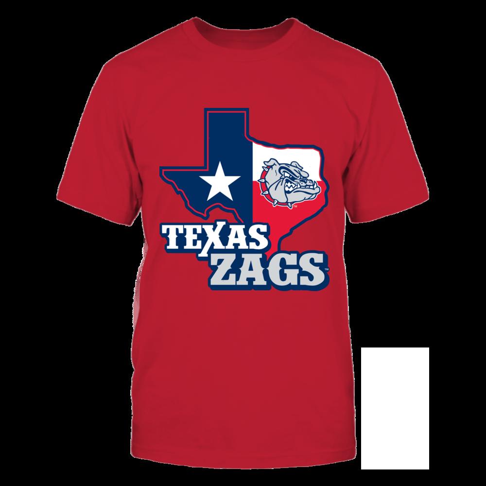 Gonzaga Bulldogs - Texas Map Mascot Front picture