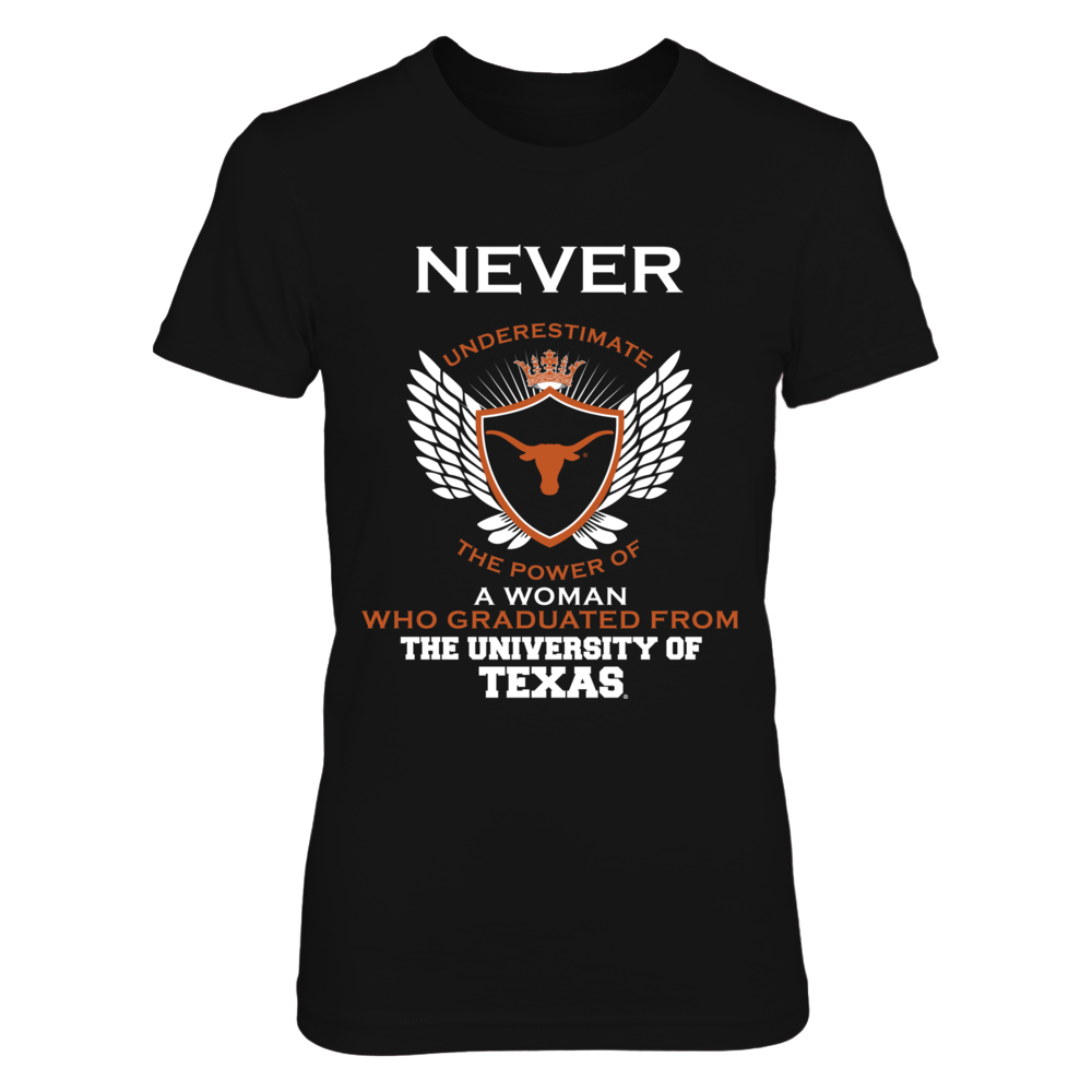 Texas Longhorns - Never Underestimate Woman Graduated Front picture