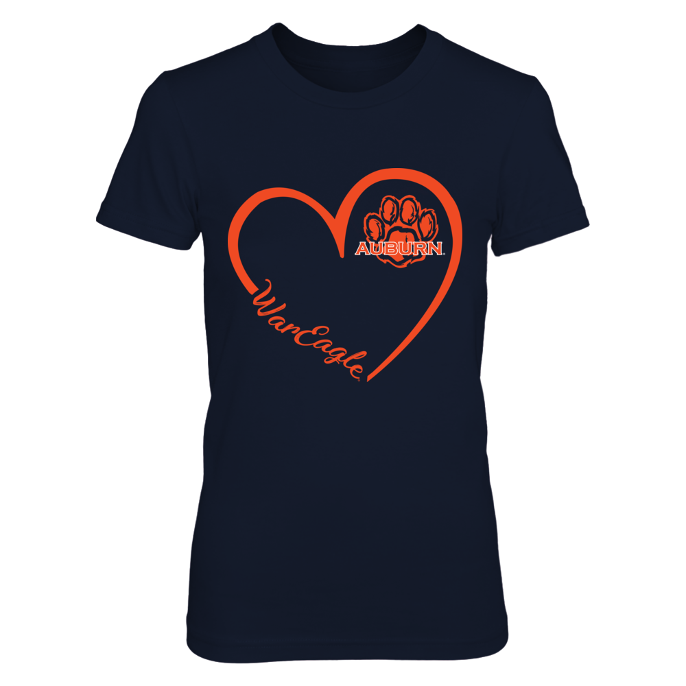 Auburn Tigers - Heart 3/4 - Pawprint Front picture