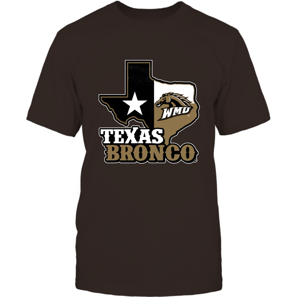Western Michigan Broncos - Texas Map Mascot Front picture