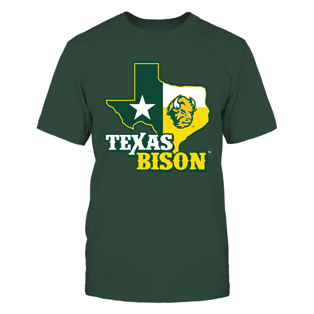 North Dakota State Bison - Texas Map Mascot Front picture