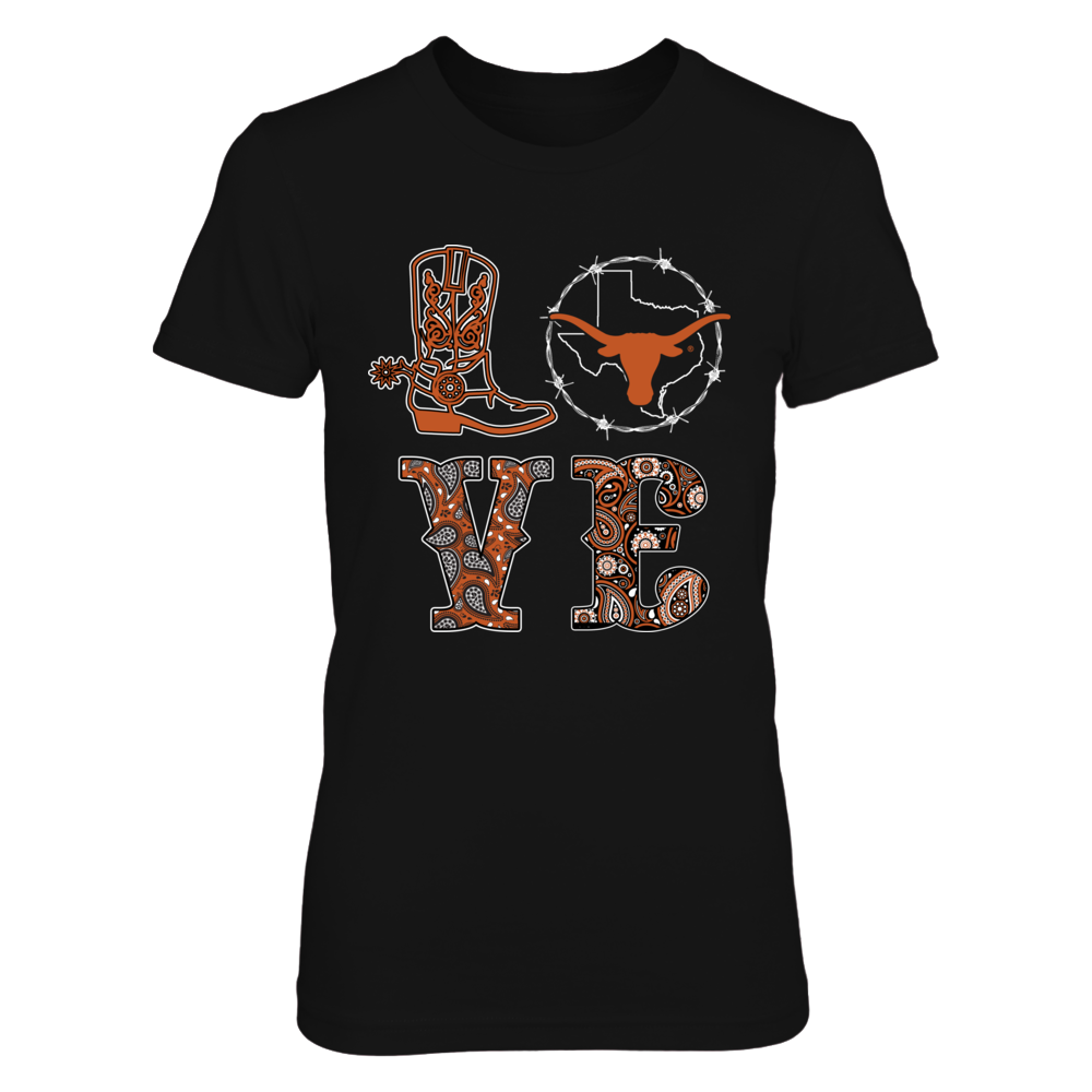 Texas Longhorns - Stacked Love - Texas Symbol Cycle Front picture
